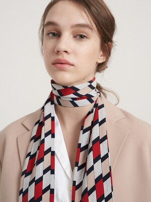 Floor tie scarf 3color