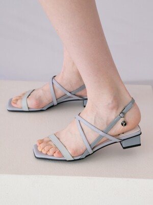 Meringue strap sandals 3cm / YY8S-S23 Sky blue gradation