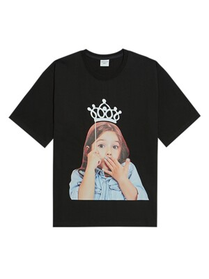 ADLV BABY FACE SHORT SLEEVE T-SHIRT BLACK TIARA