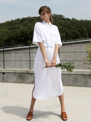 Linen shirt One-piece_Ivory