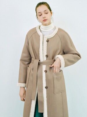 [FRONTROW X RECTO.] Reversible Eco Shearing Coat_3colors