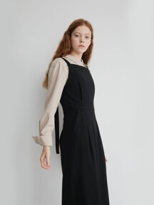 19' FALL_Black Overall Casual Dress