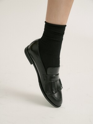 siena tassel loafer - black