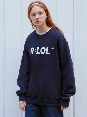 (TS-19701) R:LOL BASIC SWEATSHIRT NAVY