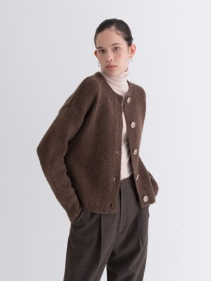 YAK SOFT CARDIGAN BROWN