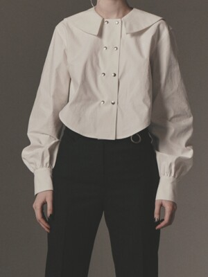 SAILOR COLLAR CROPPED SHIRT