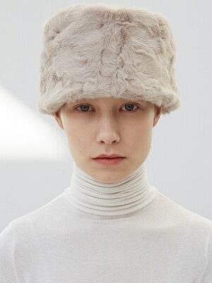 LOW LAMPSHADE HAT_BEIGE