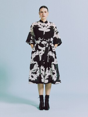 CHINA COLLAR SHIRTS DRESS