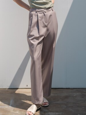 Daily Pintuck Slacks Beige