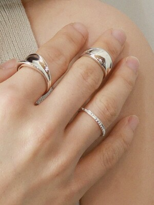 Layered dot Ring _ silver