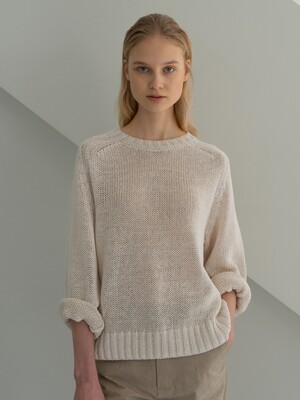Paper round pullover (Natural)