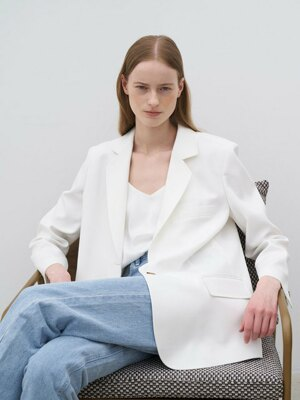 21' Summer_White Linen Blazer