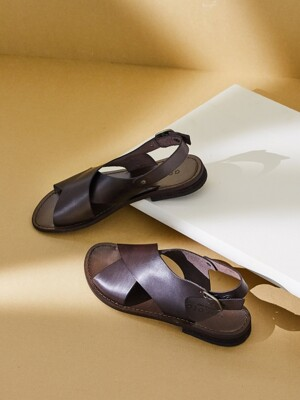 X-STRAP SANDAL_DARK BROWN