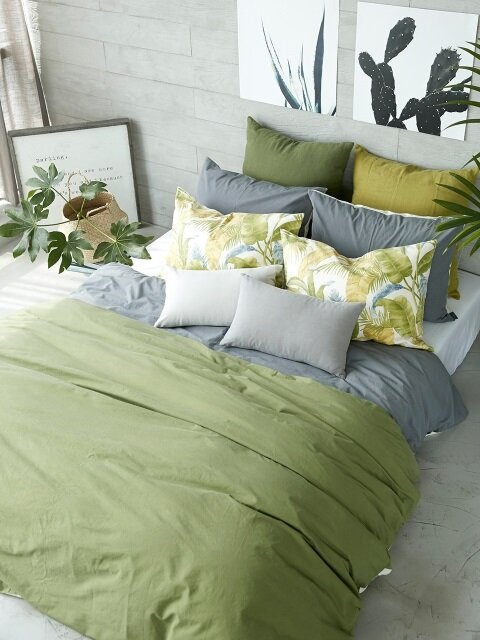 NATURAL GREEN BEDDING SET