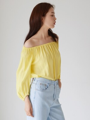 OFFSHOULDER TWO-WAY BLOUSE_YE