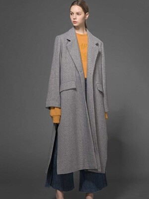 Classic Side Opening Coat (Light Gray)