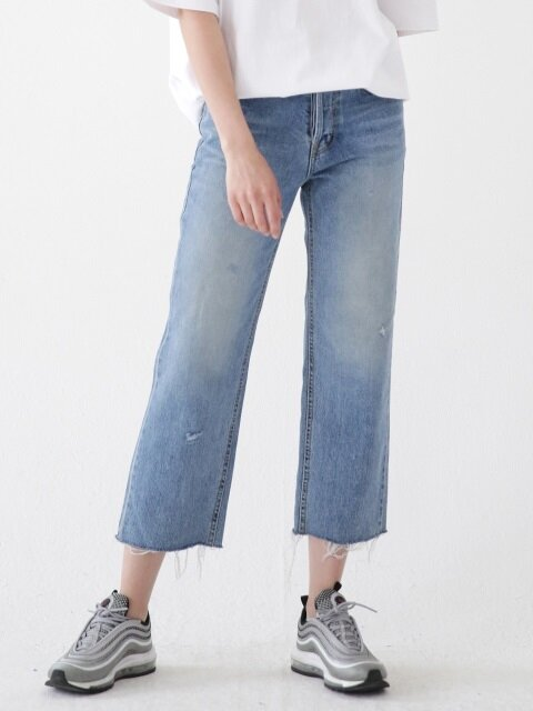 CUTTING DENIM JEANS ALP182001-BL