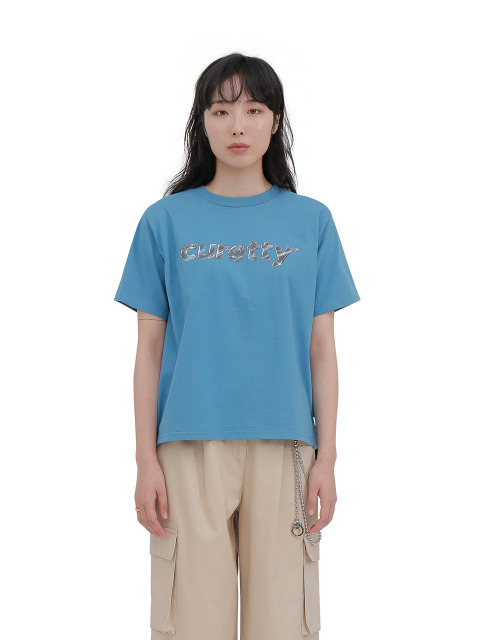 C METAL LOGO T SHIRT_BLUE
