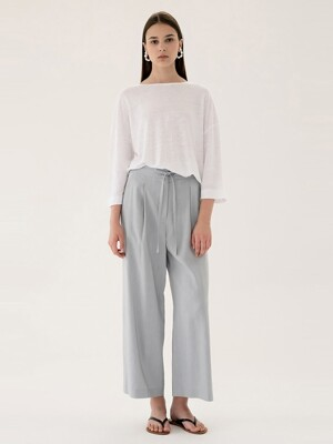 linen wide pants (sky blue)