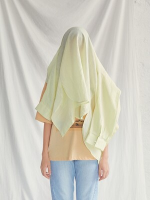 LINEN BOYFRIEND SHIRT[YELLOW]