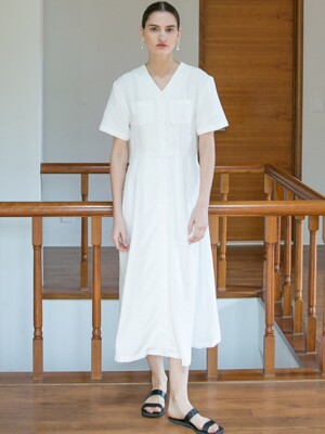 Soft Twill Dress - White