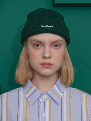 LABEL PATCH BEANIE / GREEN