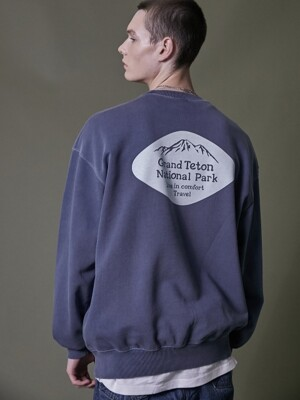 TETON SIGN PIGMENT SWEATSHIRT BLUE SHADOW