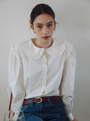Joie Ruffle-trimmed Blouse_White