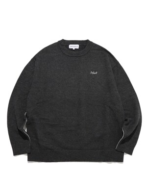 LINE POINT KNIT(GRAY)