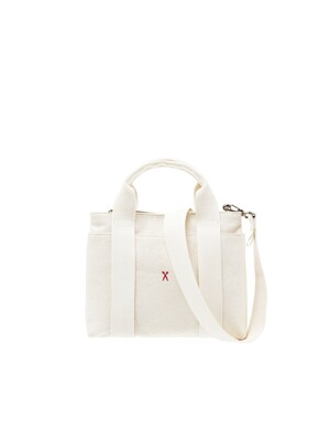 Stacey Daytrip Tote Canvas S Ivory