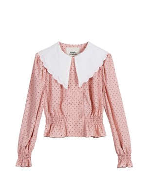 Lovers double button blouse - Small lovers pink