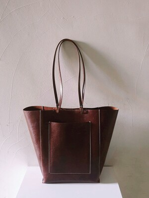 Leather Shopper Bag_2 colors