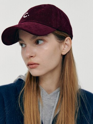 Corduroy New Fit Ball Cap (Burgundy)