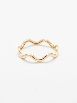 14k gold Zigzag Waves Ring (14k 골드) w17