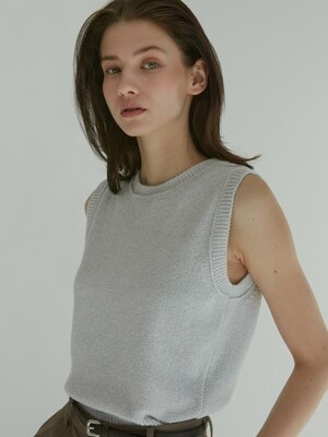 [Woman] Boucle Vest (Grey)