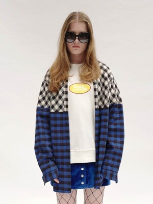 [UNISEX]RC HALF CHECK SHIRT