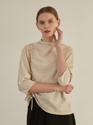 Shirring Blouse - Beige