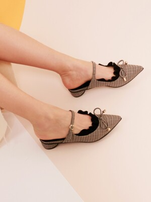 It's Adorable Mules Gray Check_0048