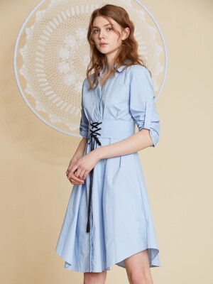 AHIN WAIST STRING DRESS [GB-DR-A514]