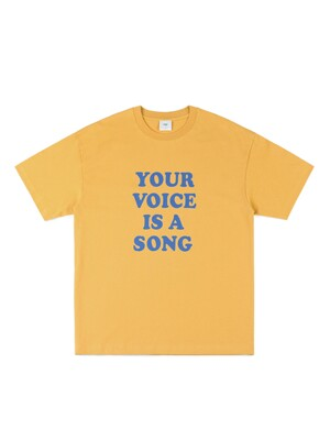YOUR VOICE T-SHIRT (MUSTARD)