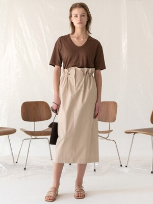 19LE string skirt (beige)