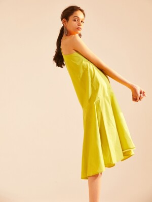 SLIP DRESS, Lime