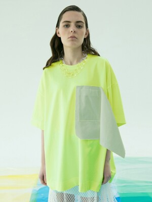 Fringe Pocket Tee (Neon)