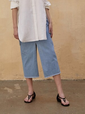 Skirt Denim Slit Blue