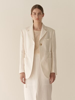 19RESORT LINEN SAFARI BLAZER_2COLOR
