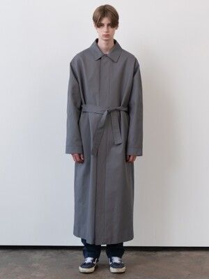 M belted trench coat