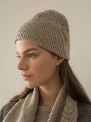 bud cashmere beanie(2color)