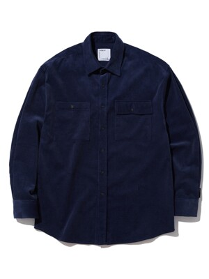 SEMI OVER FIT CORDUROY SHIRTS_NAVY