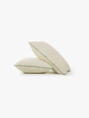 cicci pillow case - ivory/green