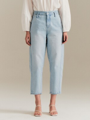 Wide twist denim_light blue